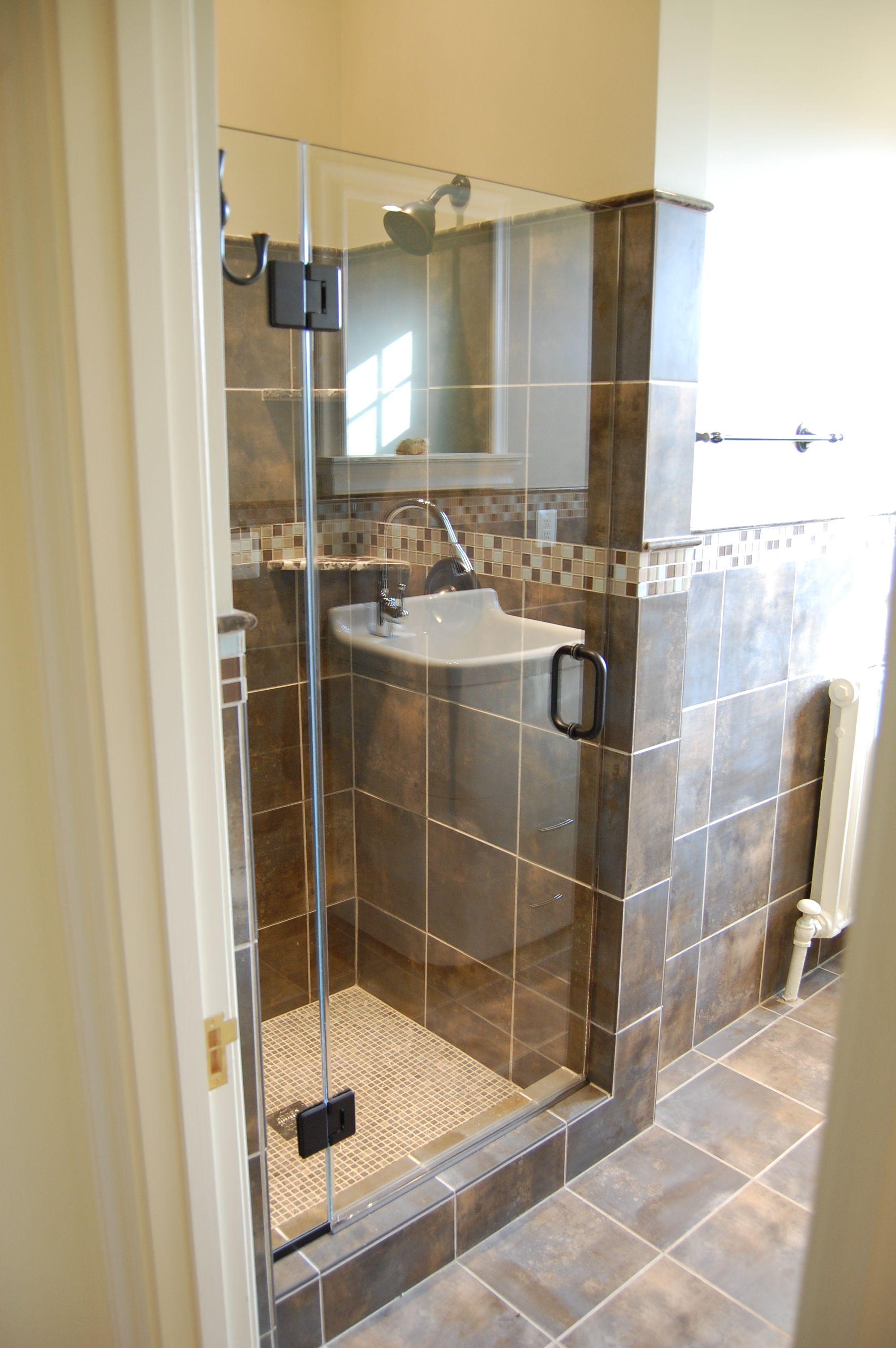 Stand alone shower   Bathroom Remodels   Pinterest   Bath