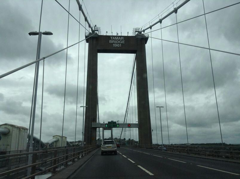 Tamar Bridge, Devon into Cornwall, UK, photo taken by Debbie Corke, May 2013, shorelings1@gmail.com