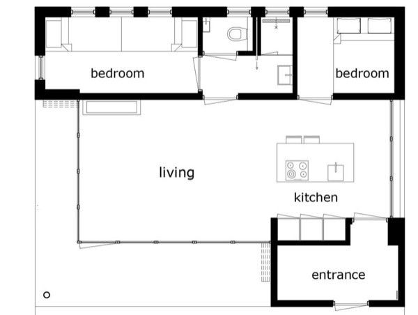 581 Sq Ft Vacation Cottage In The Netherlands Sand Dunes Small House Architecture Tiny House Plans Small House Design Architecture