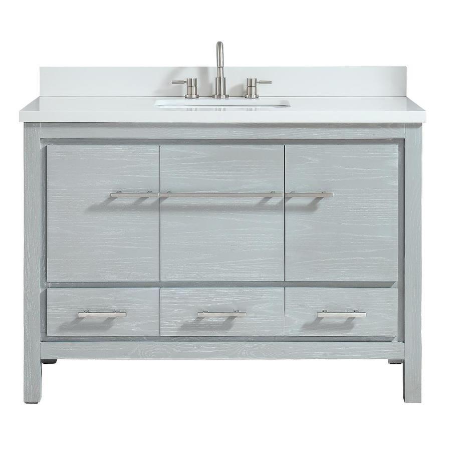 Azzuri Riley Sea Salt Gray Undermount Single Sink Bathroom Vanity