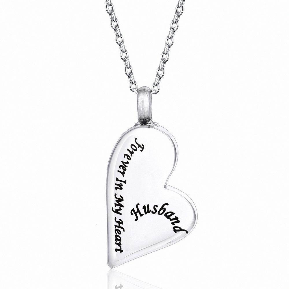 Yinplsmemory Jewelry Engravable Dog Tag Cremation Necklace Ashes Urn Pendant Keepsake Grandpa-S