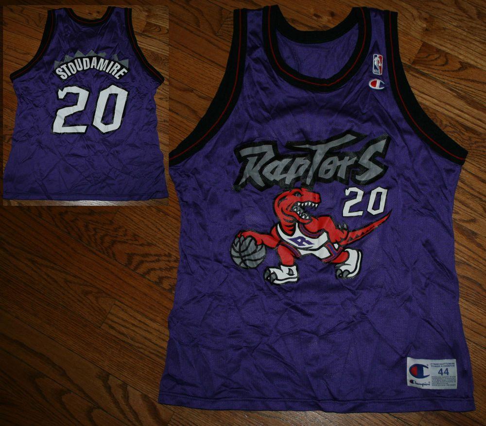 Vintage Damon Stoudamire Toronto Raptors Champion NBA Basketball Jersey-Men s  44 b20a8de18