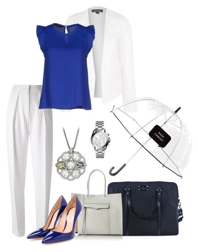 """""""Career Wear"""" by thebagtique ❤ liked on Polyvore featuring Topshop, Kate Spade, Joseph, Pinko, Rebecca Minkoff, Gianvito Rossi, Michael Kors and businessattire"""