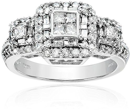 White Gold Diamond #Ring for #Engagement and #Wedding Ideas.