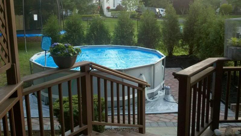 Nice view of pool from deck above ground pool landscape - Nice above ground pools ...