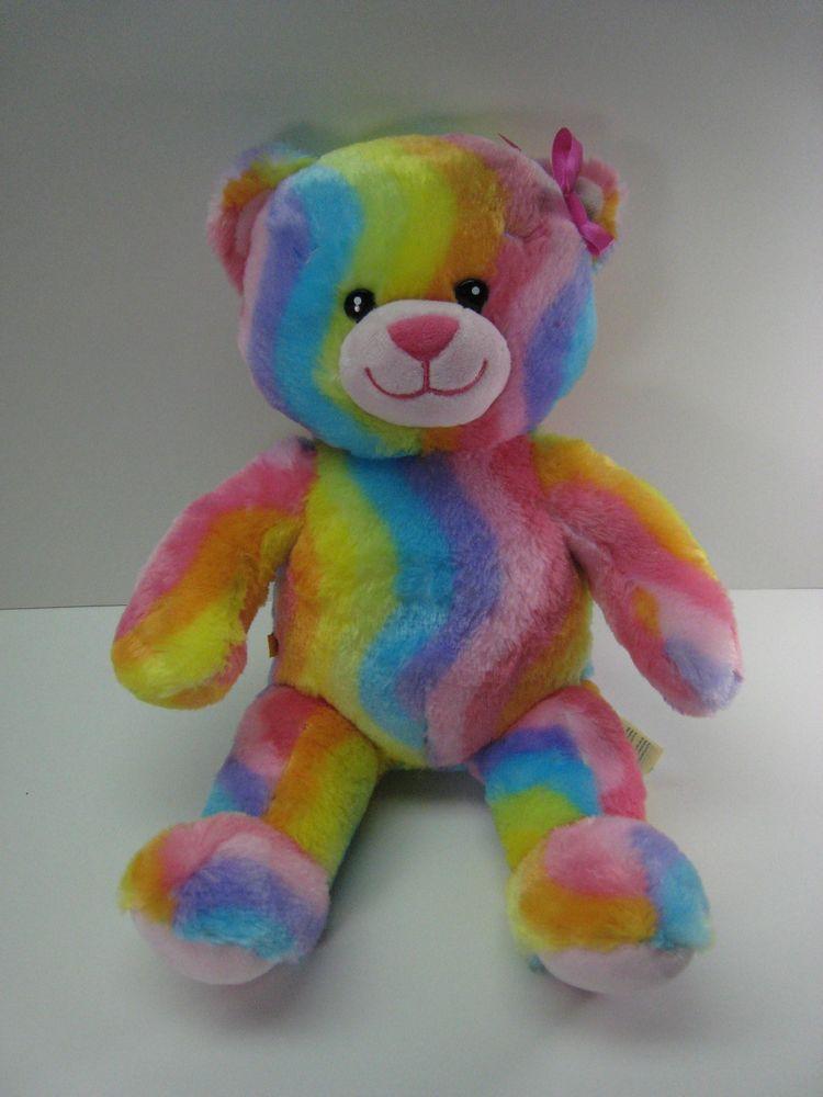 Build A Bear Rainbow Hugs Rare Retired Teddy Bear 16