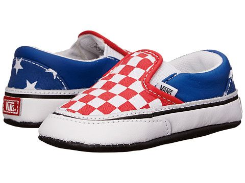 142a638d76 Vans Kids Classic Slip-On (Infant Toddler) (Stars   Stripes) True Red Classic  Blue - Zappos.com Free Shipping BOTH Ways