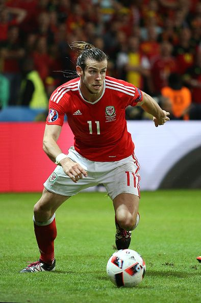 #EURO2016 Gareth Bale of Wales in action during the UEFA Euro 2016 quarter final match between Wales and Belgium at Stade PierreMauroy on July 1 2016 in Lille...