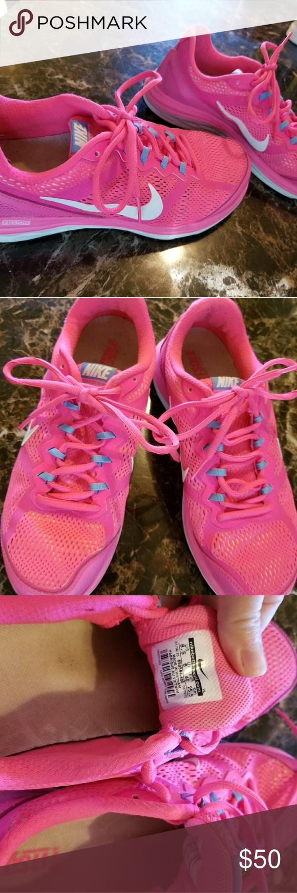 nike donna doppia fusione run 2 scarpa da corsa, le scarpe rosa, atletica