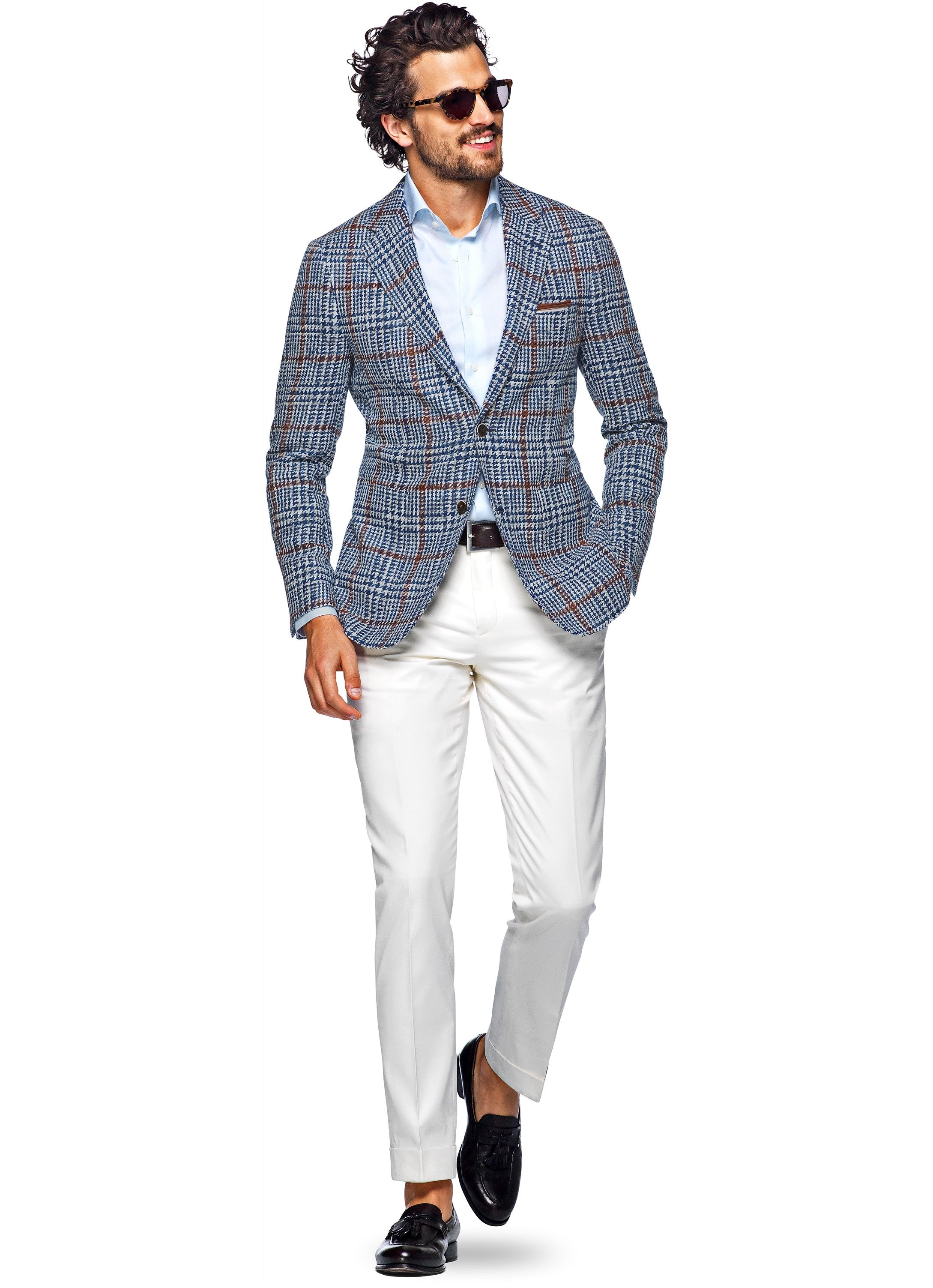 ba7219b9a9147c Jacket Blue Check Havana C965i | Suitsupply Online Store | Style in ...