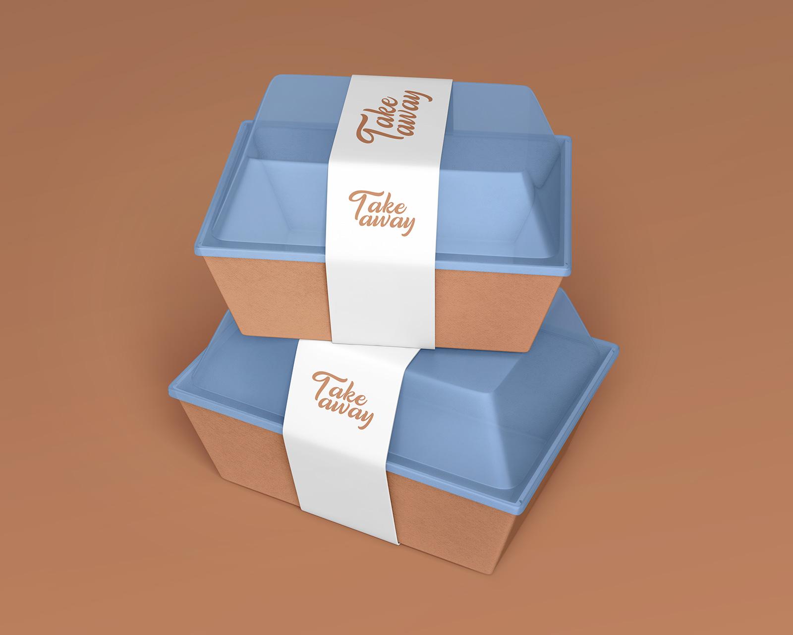 Download Free Take Away Plastic Box Food Container Mockup Psd Set Good Mockups