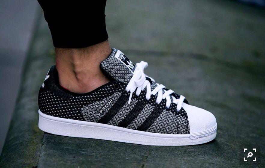 adidas superstar black and white online