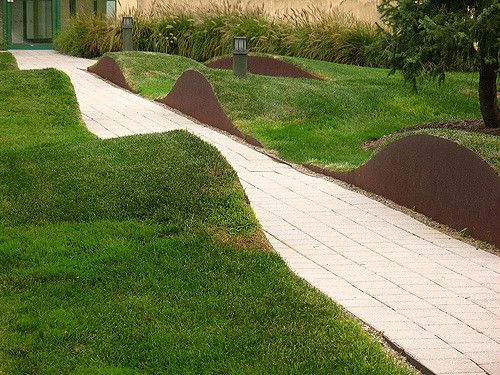 Rolling Lawn Plaza Design Landscape Architecture Landscape Design