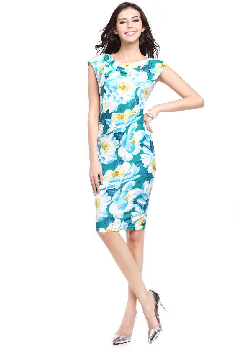 Summer dress women plus size casual floral print dress ladies