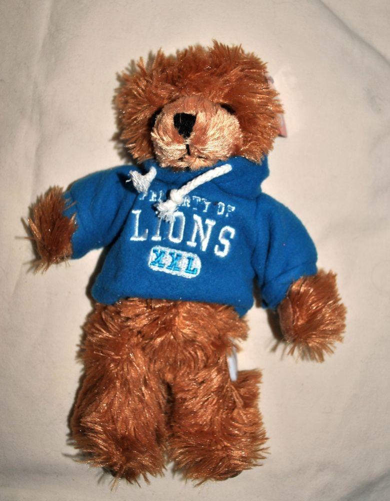 Detroit Lions Football Teddy Bear Stuffed Animal Plush 8 Nfl