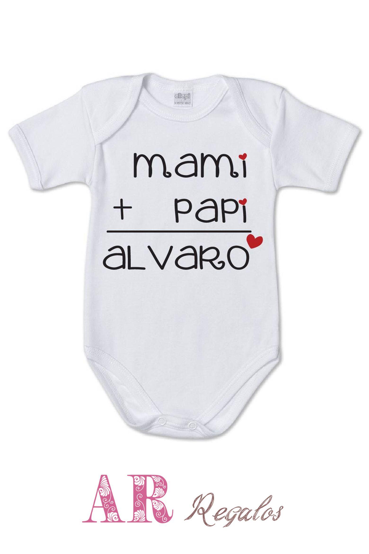 AR Regalos Body Personalizado Mami Papi = Beb/é