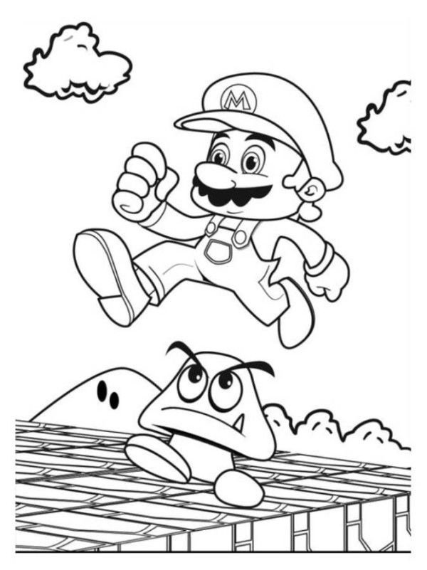 Mario Coloring Pages Games To Print | 4 Kids Coloring ...