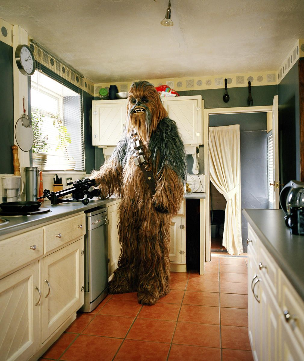 Young woman washing dishes in kitchen by andersen ross photography for - Chewbacca In The Kitchen With His Bowcaster Getting Something To Eat Photographer Steve