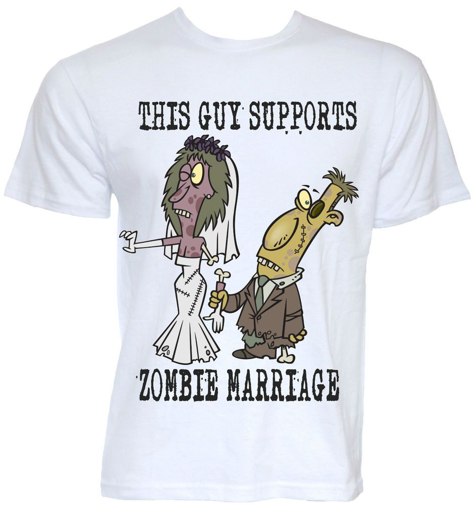 Joke Wedding Gifts: MENS FUNNY COOL NOVELTY ZOMBIE MARRIAGE GAY PARODY T-SHIRT
