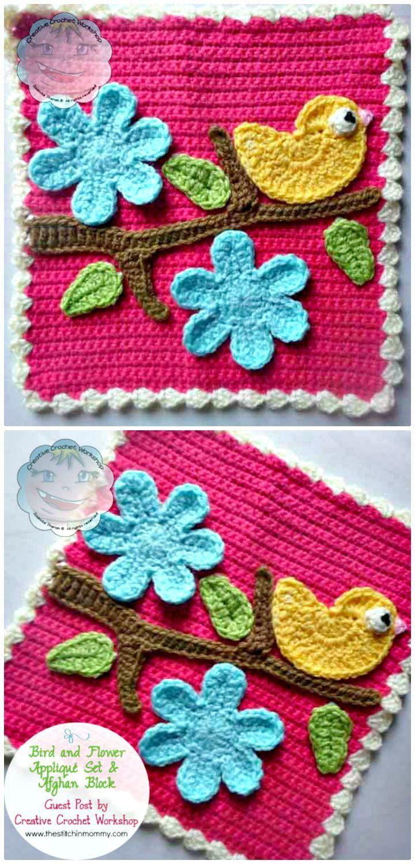 27 Free Crochet Bird Patterns You\'ll Love | Topflappen, Decken und ...