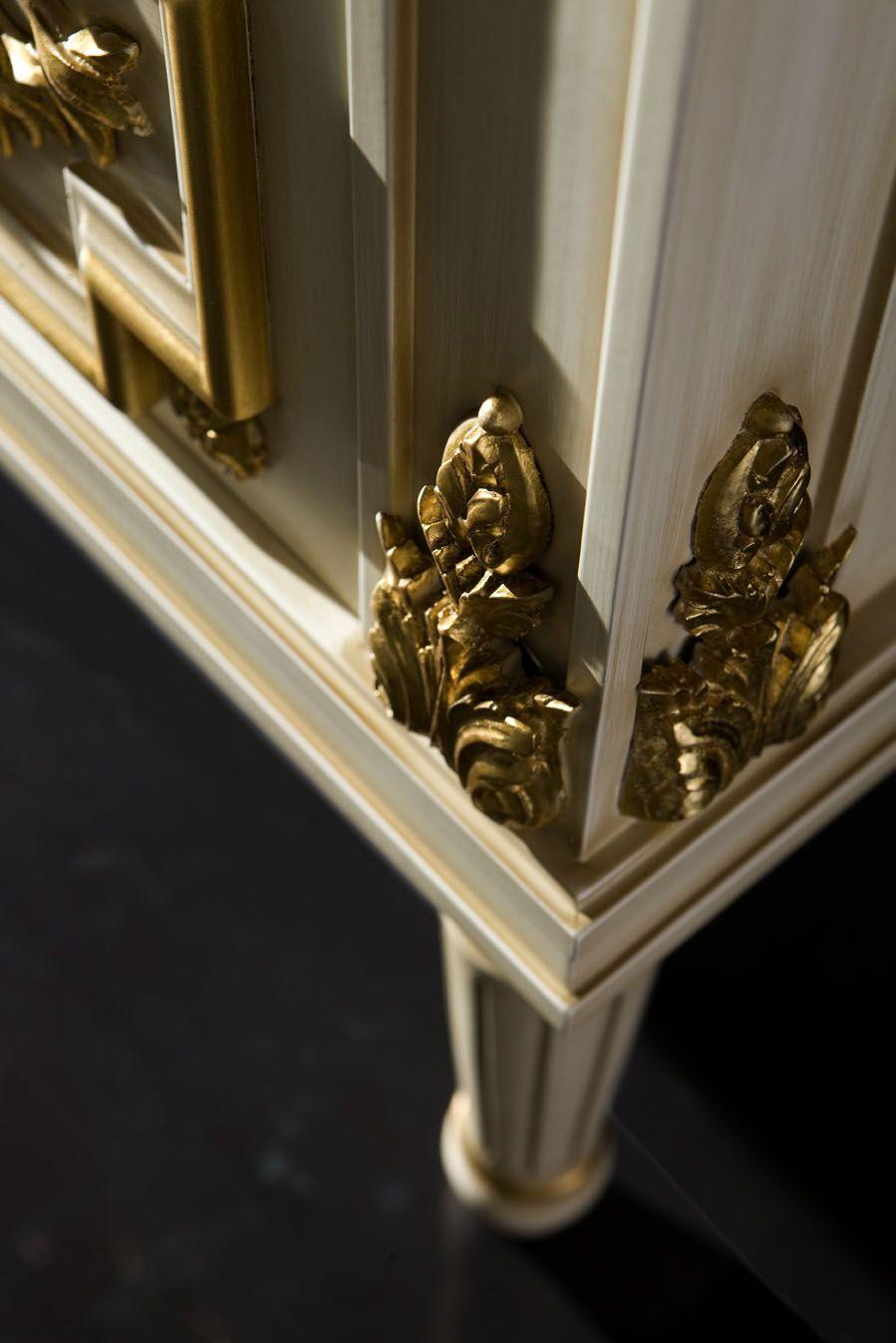 Pan De Oro En Muebles De Alta Decoraci N Locus Muebles Dorado  # Muebles Dorados