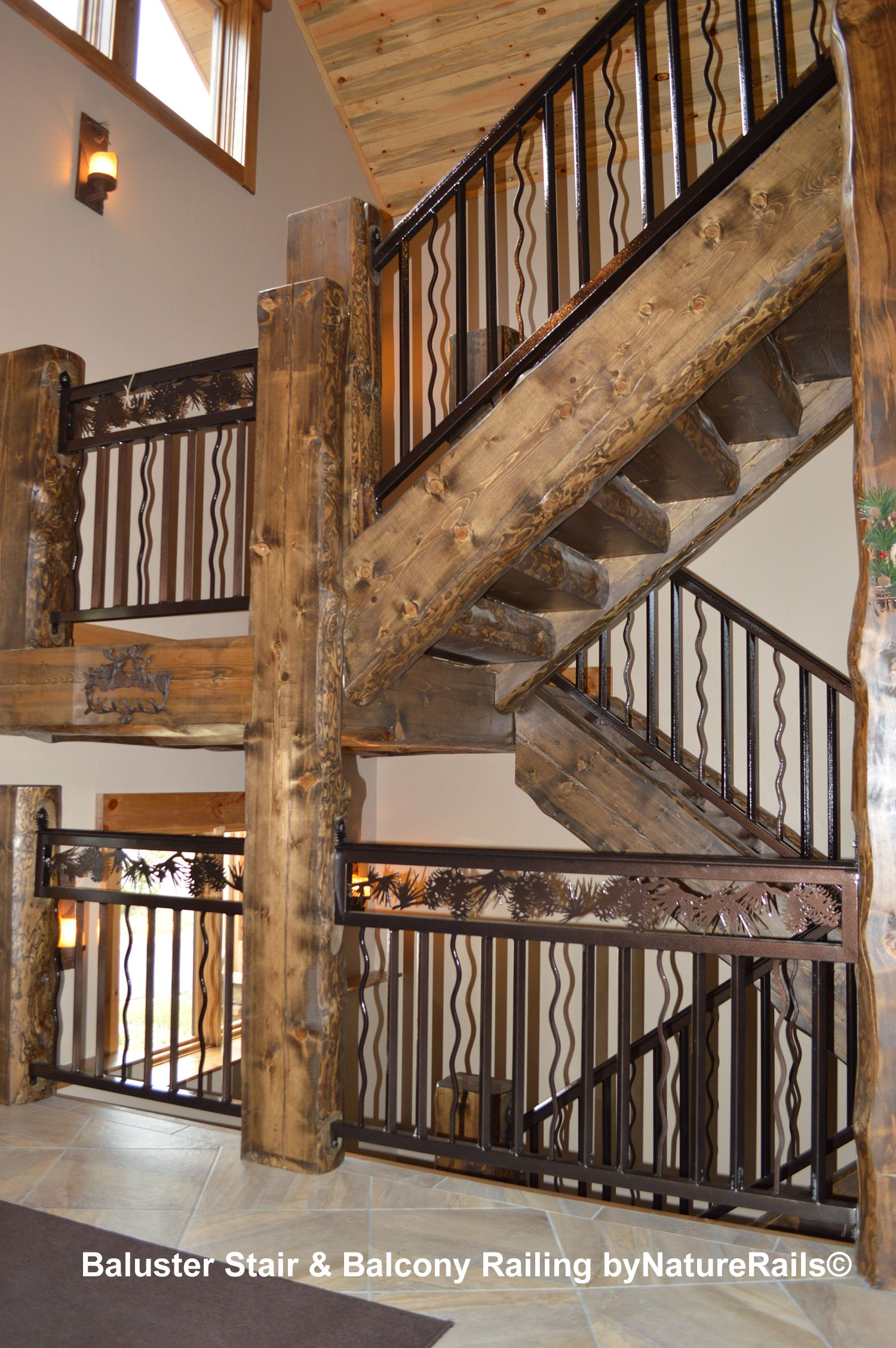 Best Decorative Baluster Railing With Pine Cone Border Over A 400 x 300