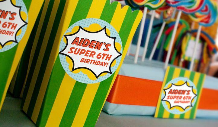 Round Labels, Birthday Labels