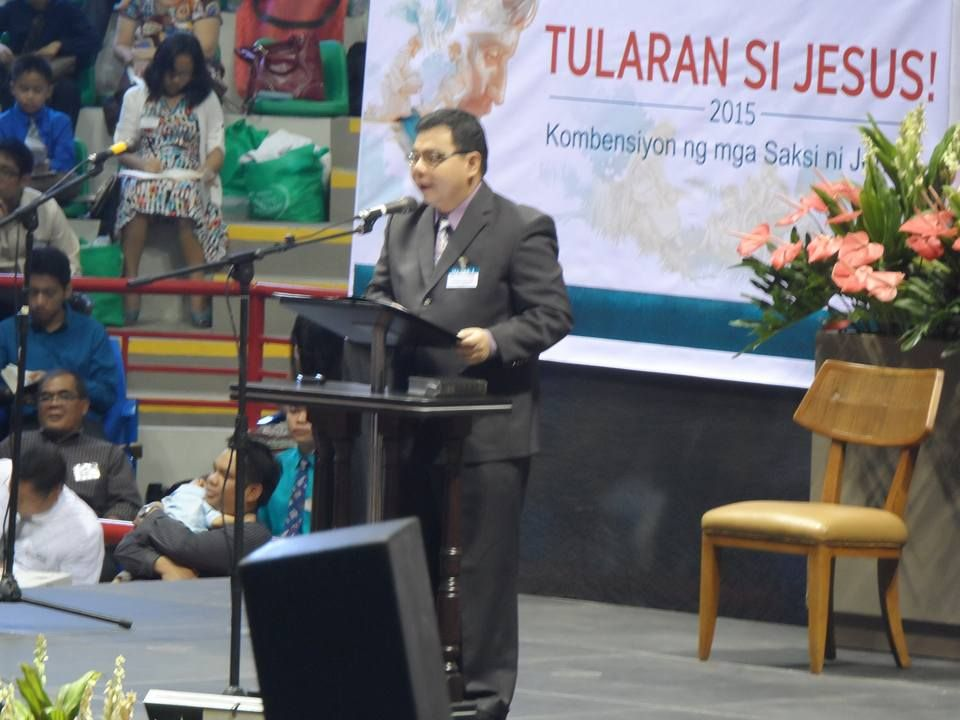 I would like to share my photo when I delivered a convention talk in the Imitate Jesus Regional Convention held on October 24 2015 at the Alonte Sports Complex Binan City Laguna.