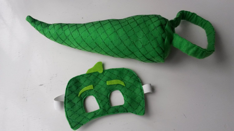Gekko Mask and Tail Set. Disneys PJ Masks Hand painted Costume for ...