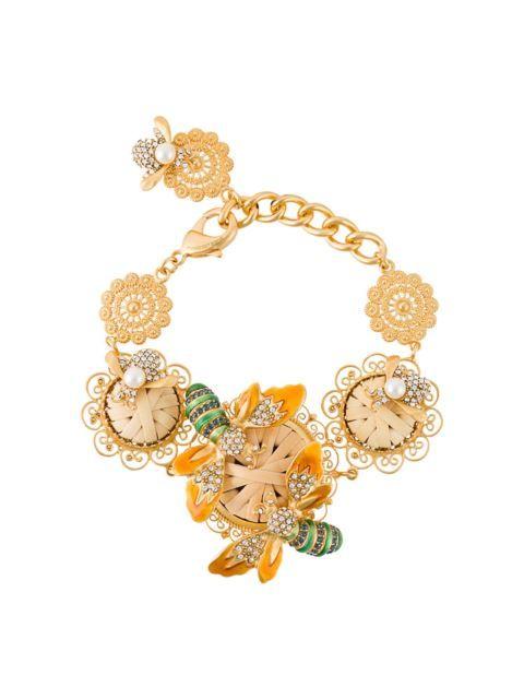03175704 DOLCE & GABBANA 蜜蜂与花卉手环. #dolcegabbana #bracelet | Dolce ...