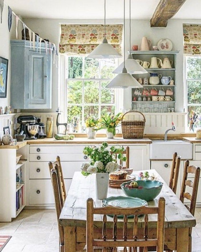 Tumblr Kitchendecor Design Bathroom Homesweethome Kitchendesign Homedecor Homesweetho Cottage Style Kitchen Kitchens Rustic