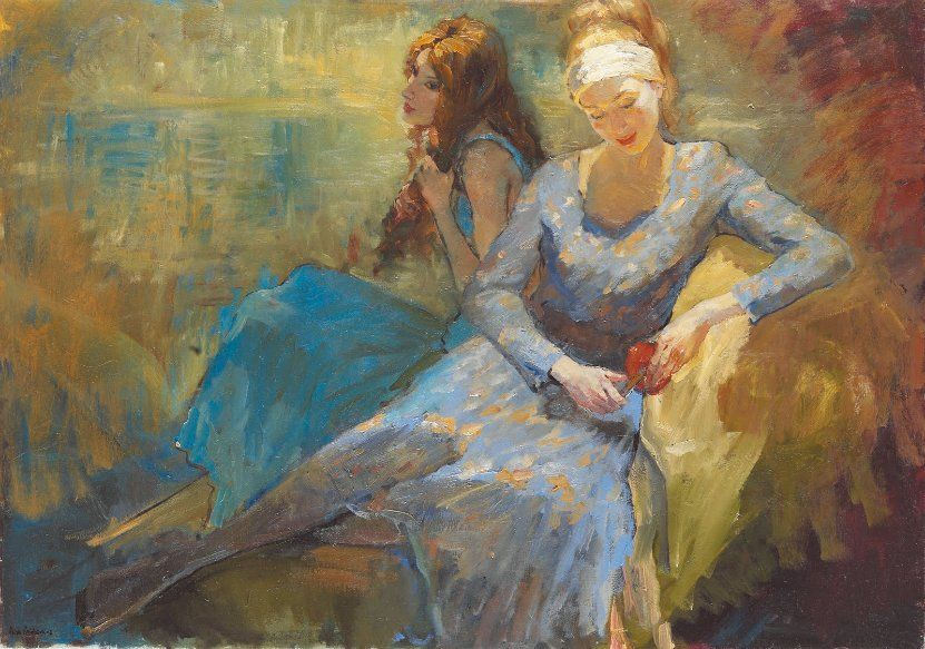 Katya Gridneva, 1965 ~ Figurative painter | Figurative