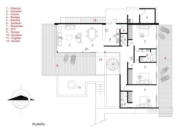 10 ideas de casas modernas de un piso descubre las for Planos para casas de un piso