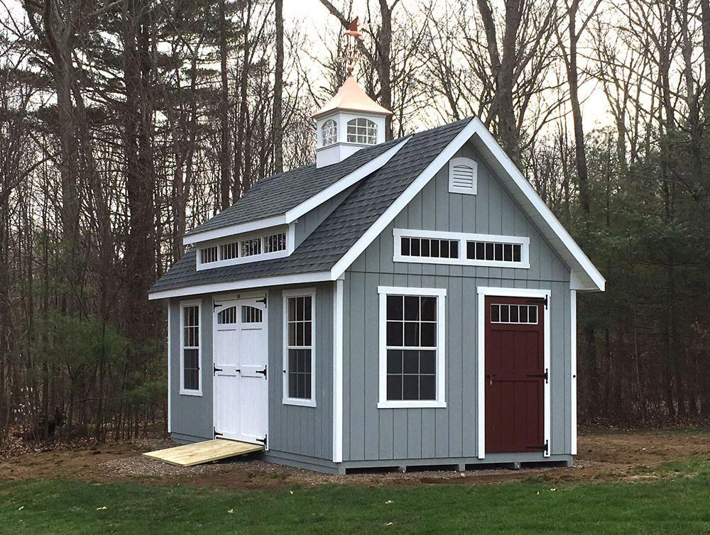 12 X 20 Garden Elite With A Mini Shed Dormer By Kloter Farms Sheddesigns Mini Shed Shed Design Yard Sheds
