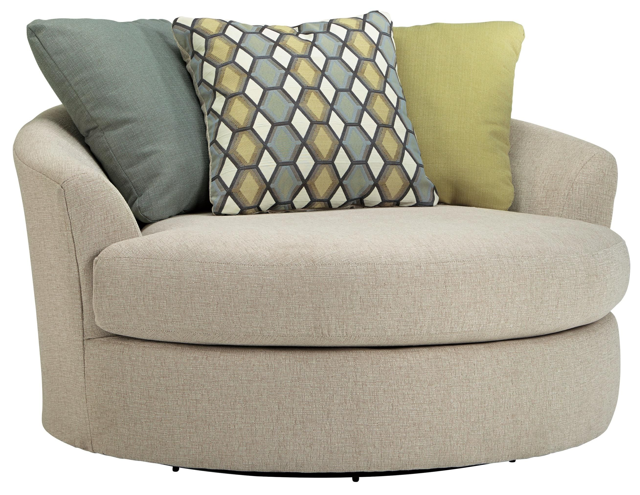 Benchcraft Casheral Round Oversized Swivel Accent Chair