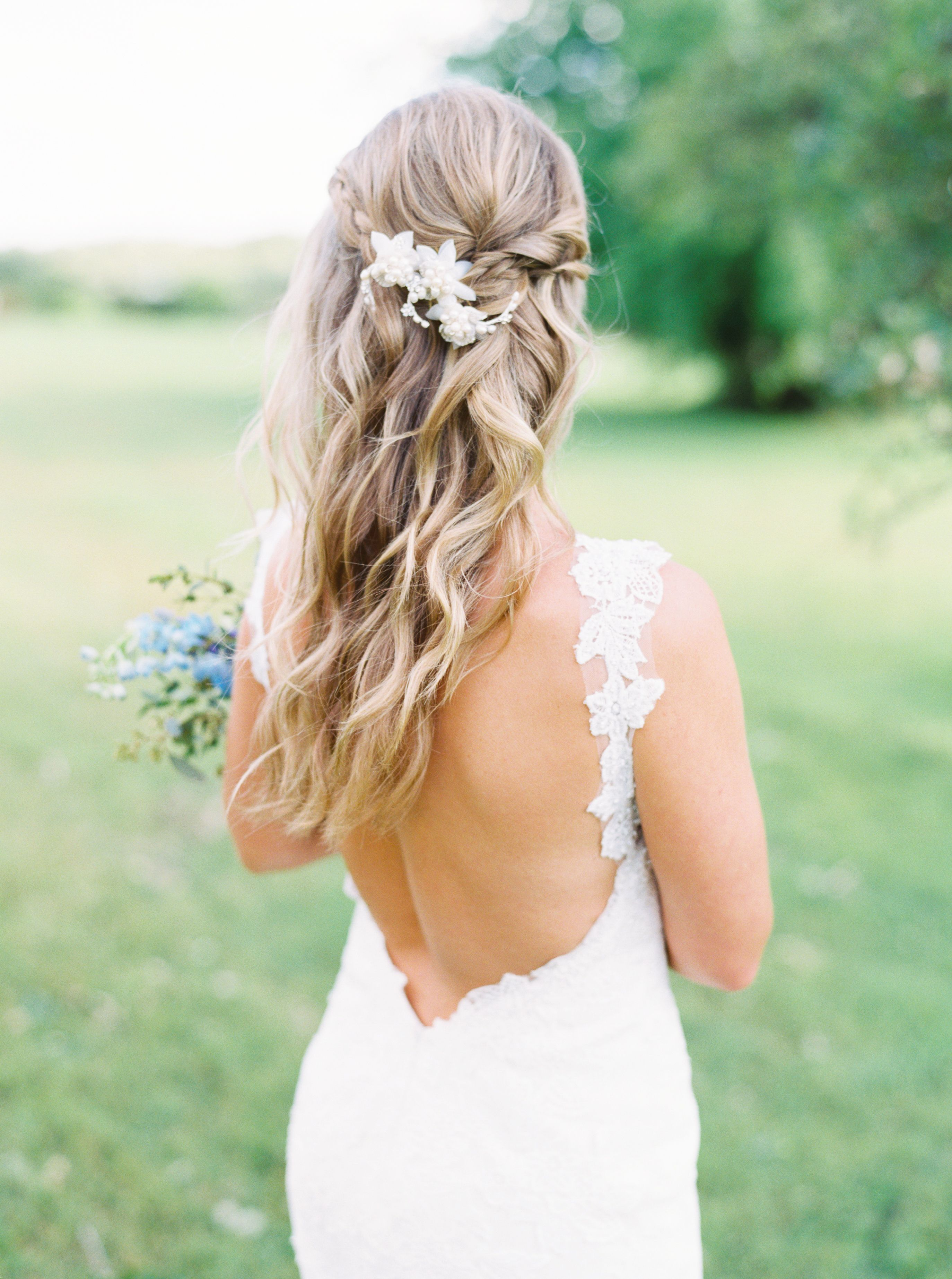 spring lakeside wedding with the prettiest shades of blue