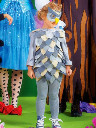 Schnittmuster: Eule - Kleid und Maske - Fasching - burda style ...