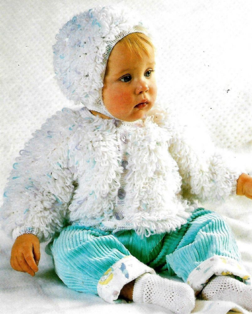 Digital Download PDF Vintage Knitting Pattern Baby's Loopy ...