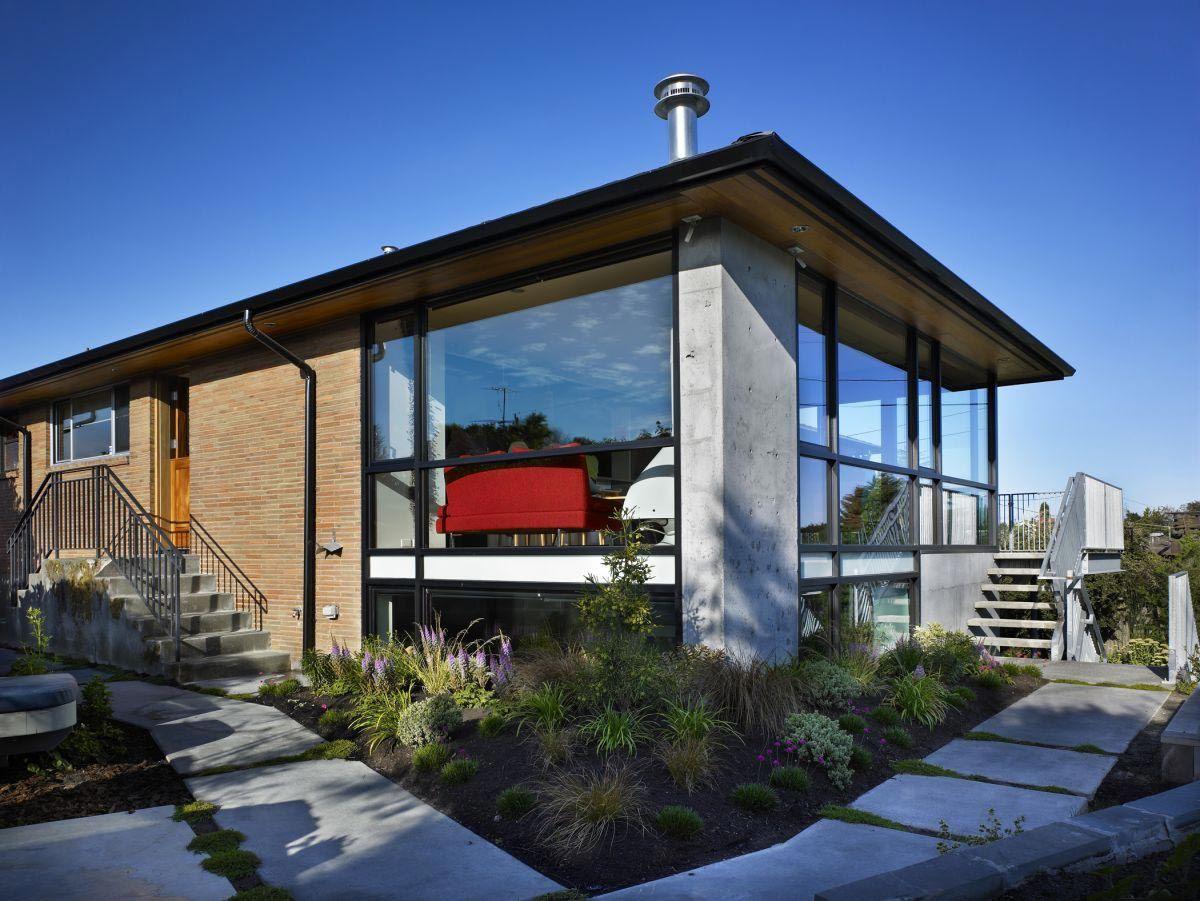 Contemporary Modern Architecture Home Design Brick Pinned