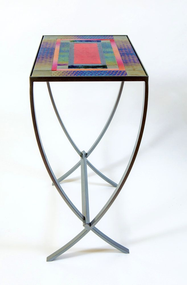 Red Art Gl Table By Varda Avnisan Console Made With Fused