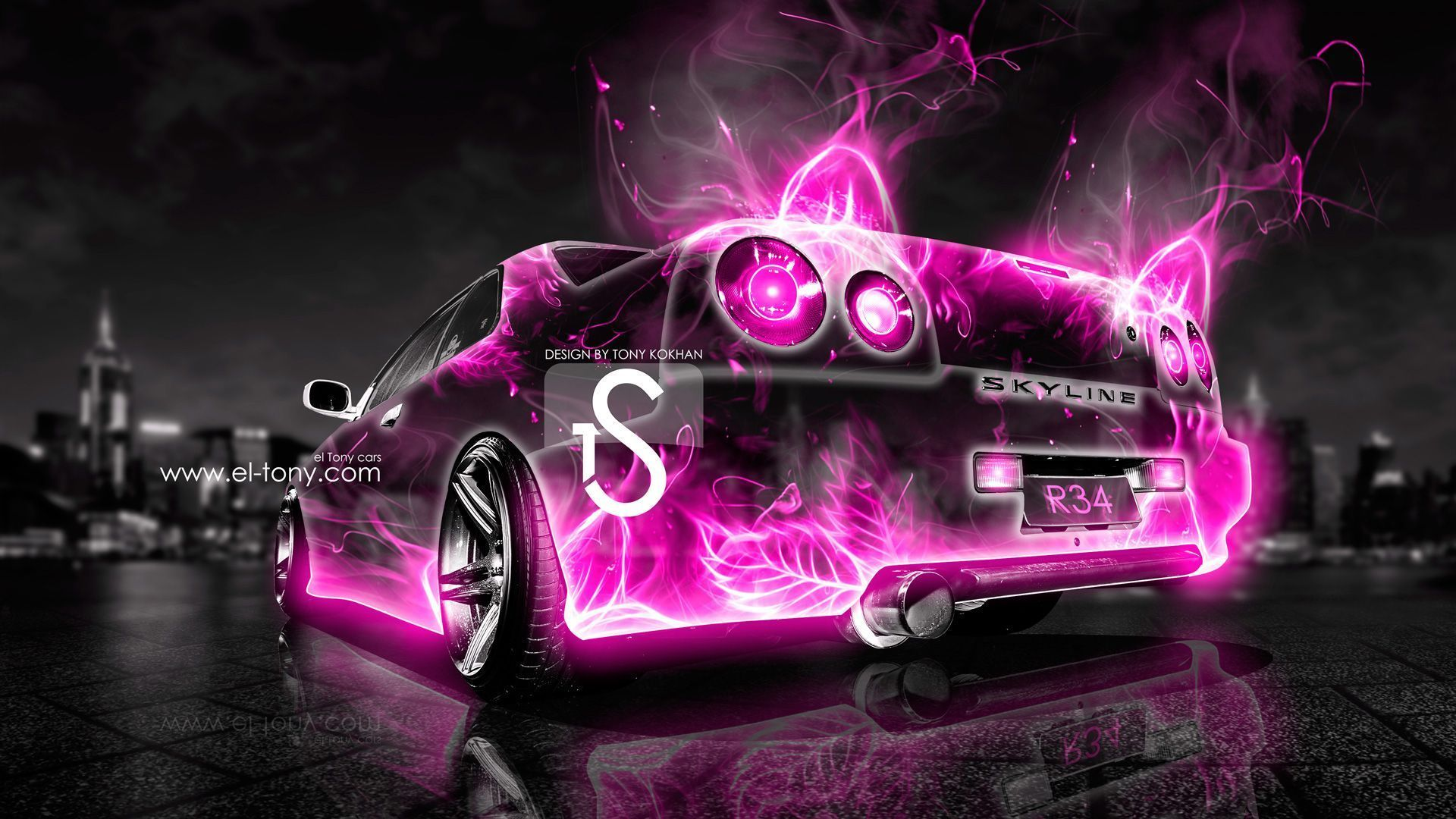 Nice Nissan Skyline R34 Abstract Car City 2013 « El Tony