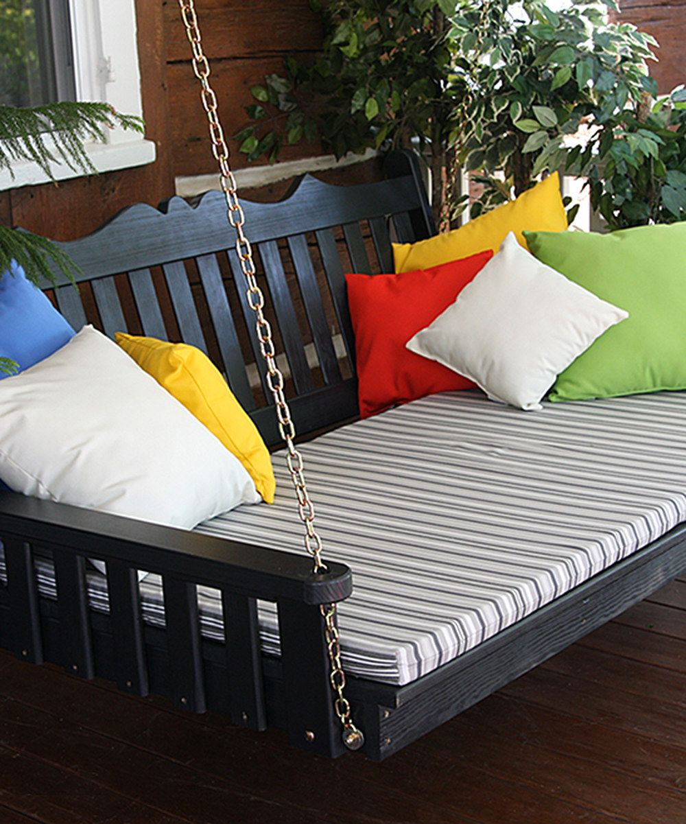 look at this zulilyfind black royal english porch swing bed by a l