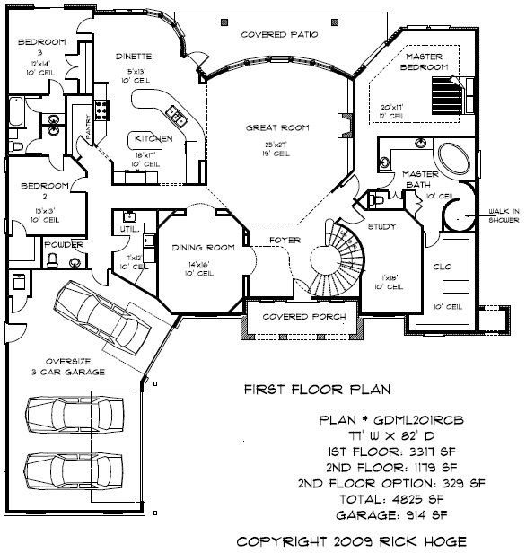 Plan Gdml101rcs 4000 To 5000 Sq Ft Plans Oklahoma Custom Home Design Two Story House Plans House Plans 4000 Sq Ft House Plans