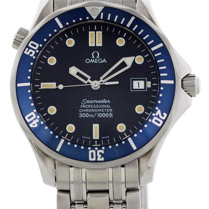 Pre Owned Omega Seamaster Automatic Chronometer Blue Dial Men S Watch 2531 80 00 Omega Seamaster Omega Seamaster Automatic Watches For Men