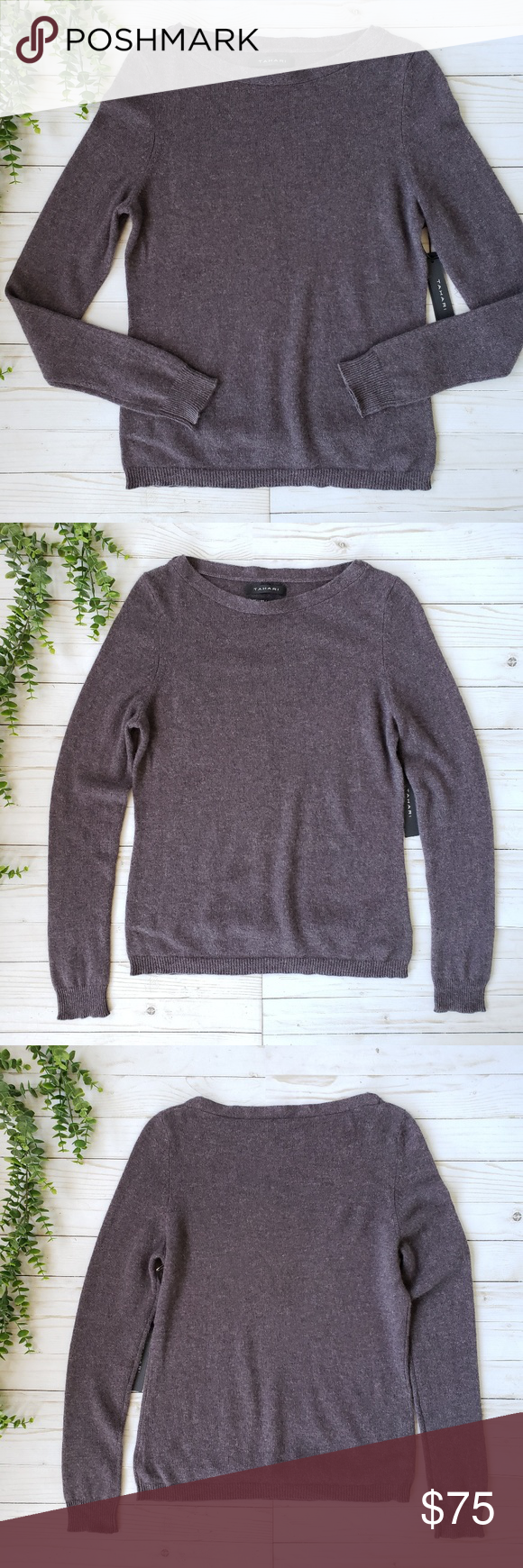 Tahari Pure Luxe 100% Cashmere Sweater   Clothes design
