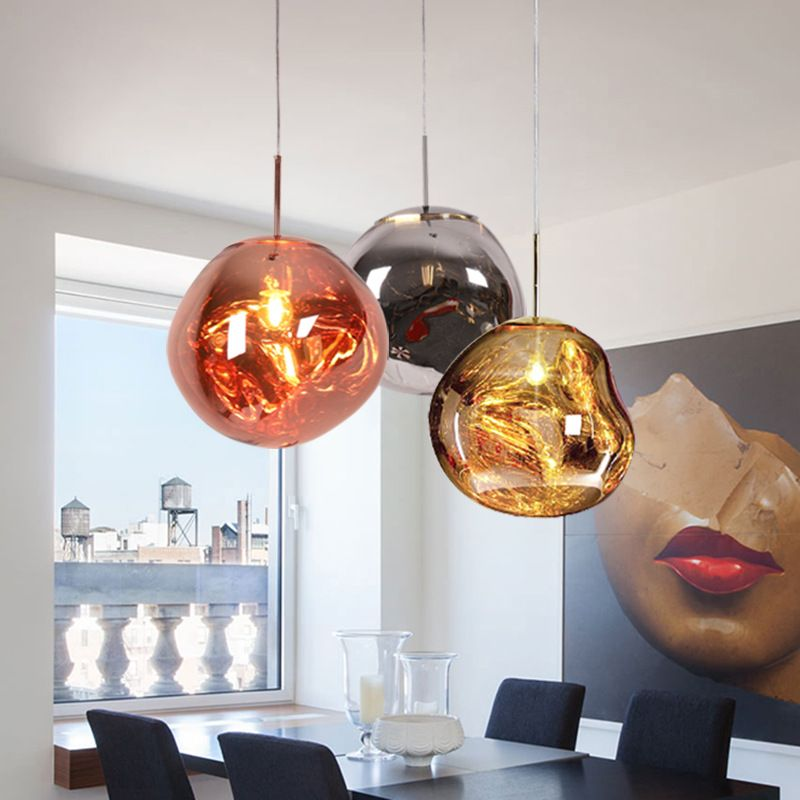 Tom Dixon Melt Mini Pendant Light Replica Chrome Gold Tom Dixon Melt Mini Pendant Lights Pendant Light