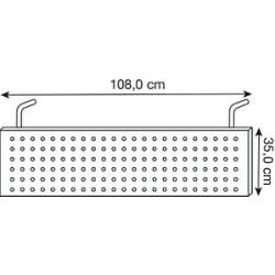 Hammerbacher Si90 Sichtblende silber 108,0 x 35,0 cm Hammerbacher #decodenoelfaitmaison