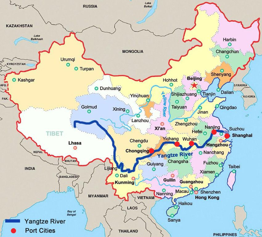 Image result for yangtze river map | History: Language Maps