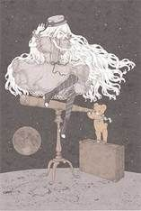 """""""Girl on her way to the Moon, the Young Girl's Whereabouts"""" Postcard from Imai Kira (#PC83)"""
