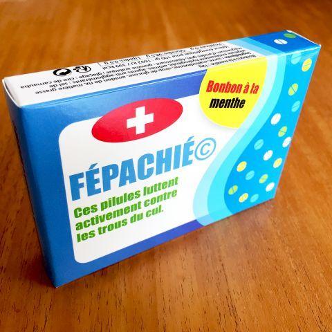 Idée Cadeau Rigolo Médicament Fépachié, des Laboratoires Kucéré à 5,95 € | Idée